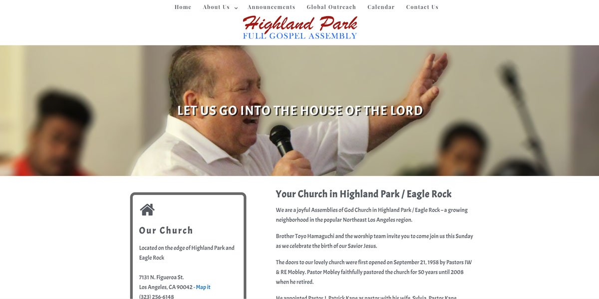Highland Park Full Gospel Website